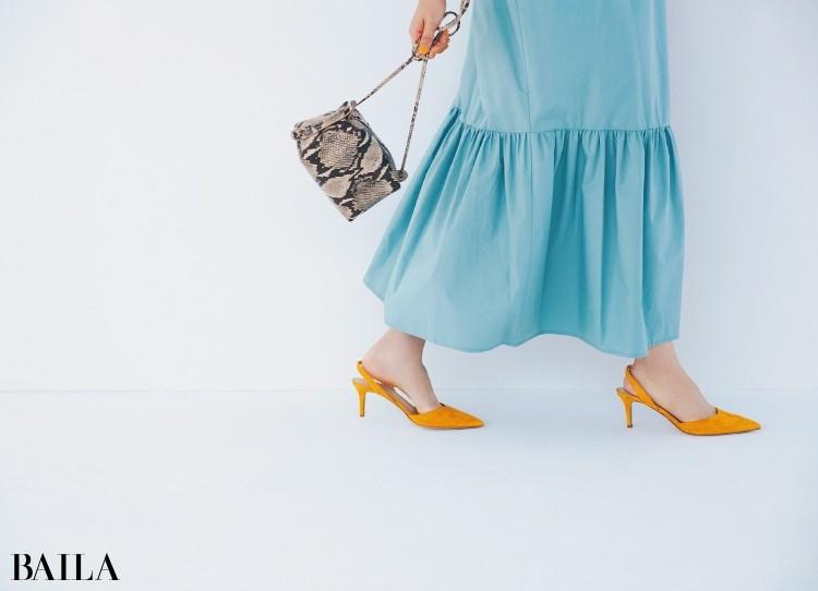 歩くと裾の揺れが可愛い!