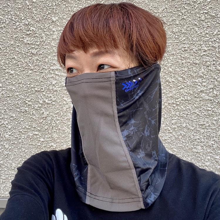 【ワークマン(WORKMAN)】暑い夏のマスク代用にお役立ち!? 接触冷感・吸水速乾・UVカット機能つきネックチューブ&フェイスカバー「クールシールド ネオ」_8