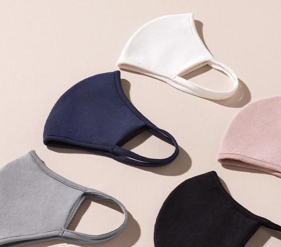 【ジーユー(GU)おしゃれ新作マスク着用レビュー】「高機能フィルター入りMASK(2枚組・GU DRY素材使用)」(¥790) カラバリは5色