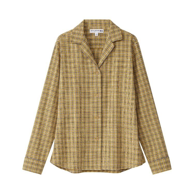 ユニクロ × イネス・ド・ラ・フレサンジュ 2021年秋冬コレクション フランネルチェックシャツ(長袖)¥2990