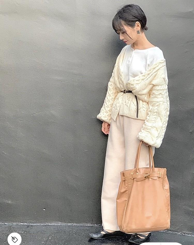 【コーデ画像】重い冬コートからチェンジ!春色あったかカーディガンを着よう♡_6