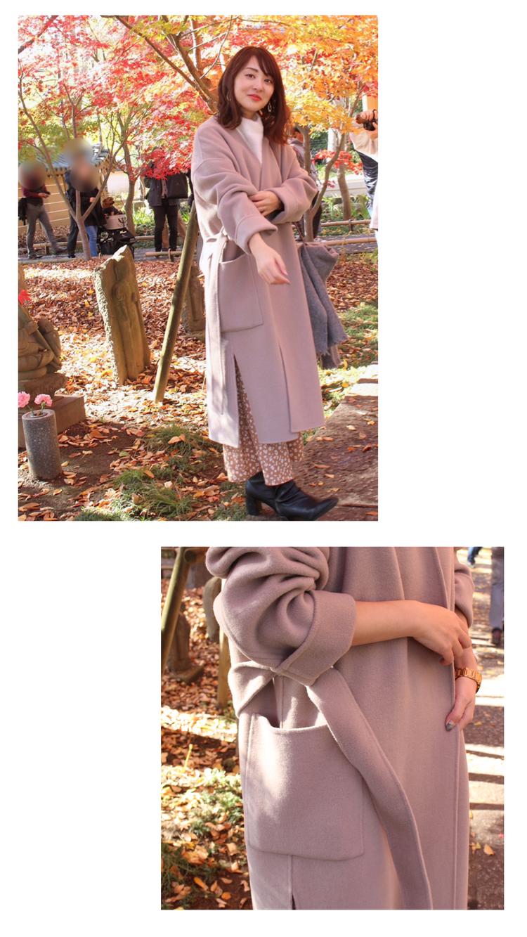 【私の最愛コート】高コスパN.O.R.Cの淡色リバーコート_3