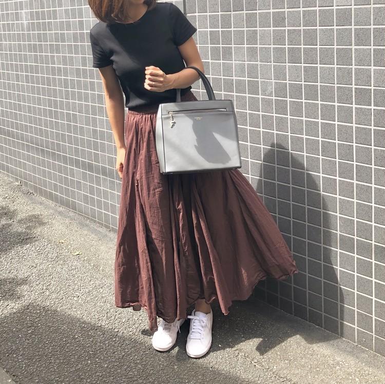黒Tシャツで秋コーデ♪_4