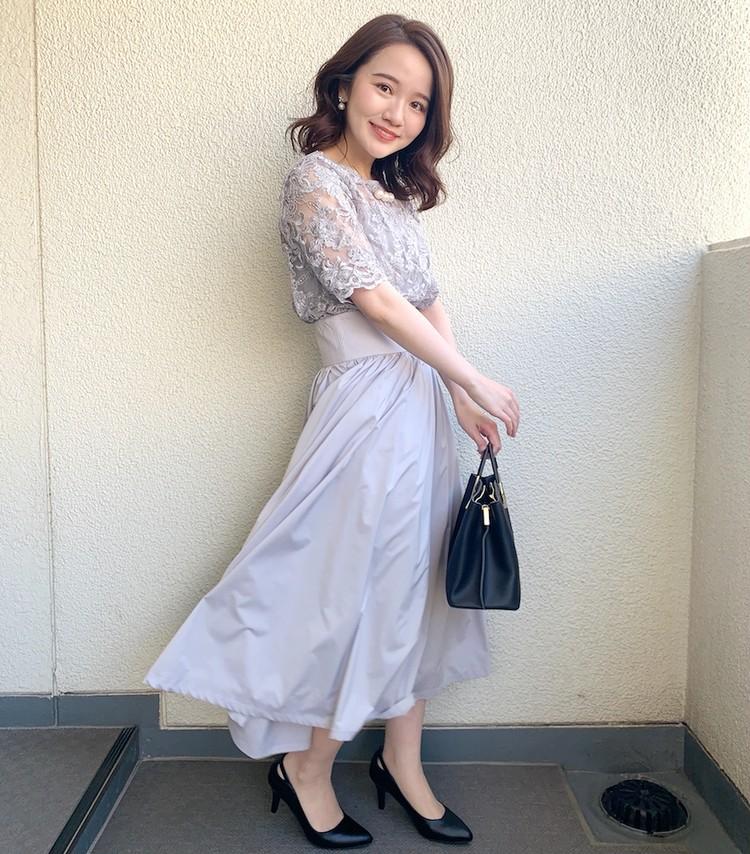 【結婚式お呼ばれドレス】1枚で華やか!LAGUNAMOONのオーバーレースギャザードレス_2