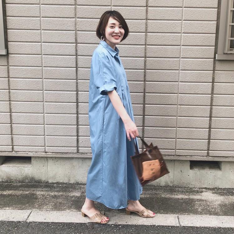 【きれい色ワンピ】夏だからこそ着たい!爽やかブルーのZARAシャツワンピ_2