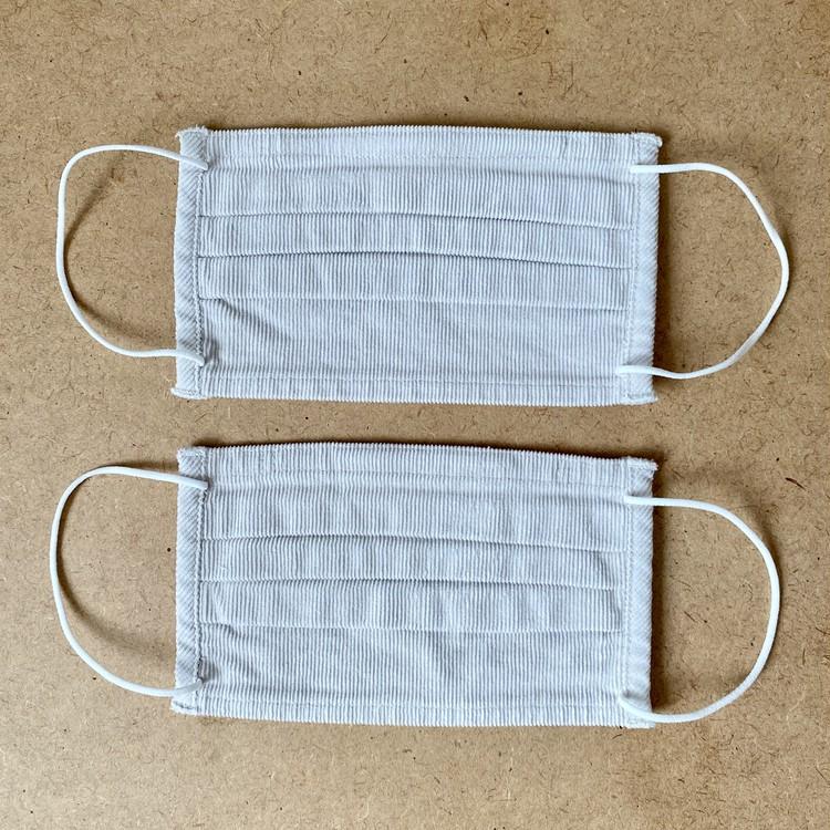 【無印良品】「繰り返し 使える 2枚組・マスク」秋冬向けあったかバージョン3種が新発売 コーデュロイ素材
