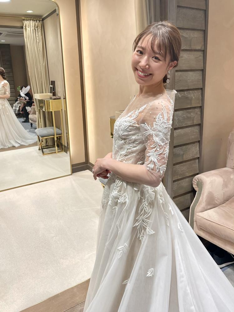 準備再開【パレス花嫁】2021SS新作ドレスを試着しました♡_16