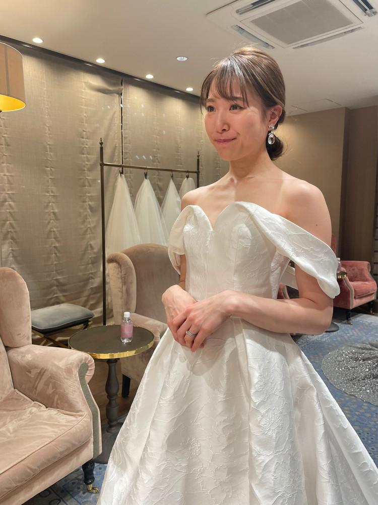 準備再開【パレス花嫁】2021SS新作ドレスを試着しました♡_8