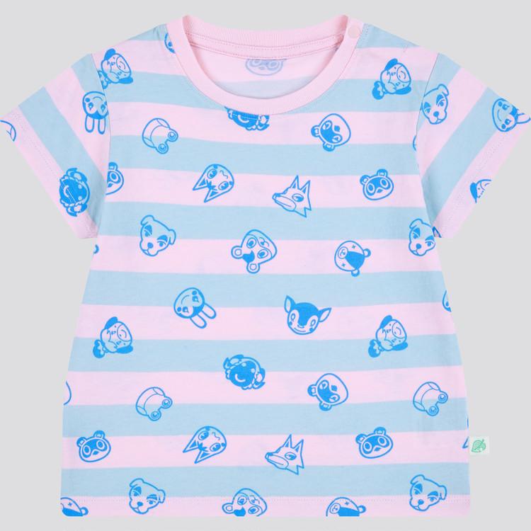 あつまれ どうぶつの森 UT グラフィックTシャツ(半袖) ピンクストライプ