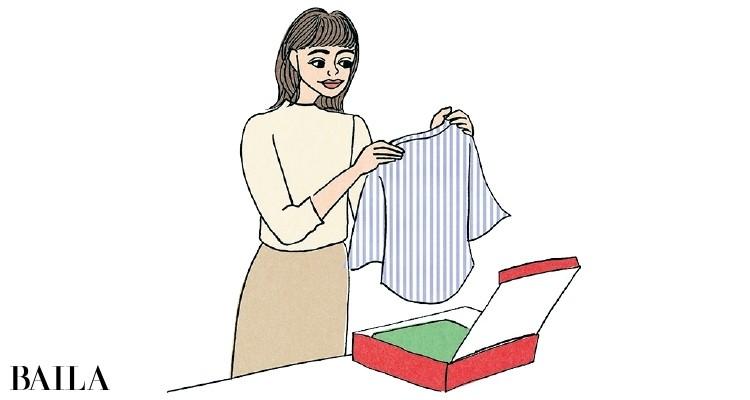 手持ち服との相性を見ながら買い物が可能