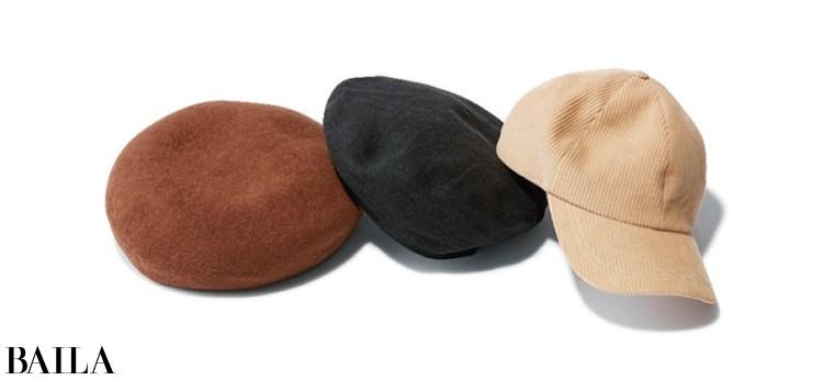 キャッチーな帽子が休日らしいカジュアル感を