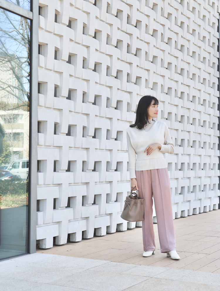 【冬→春】celfordつる太パンツで春コーデ_1