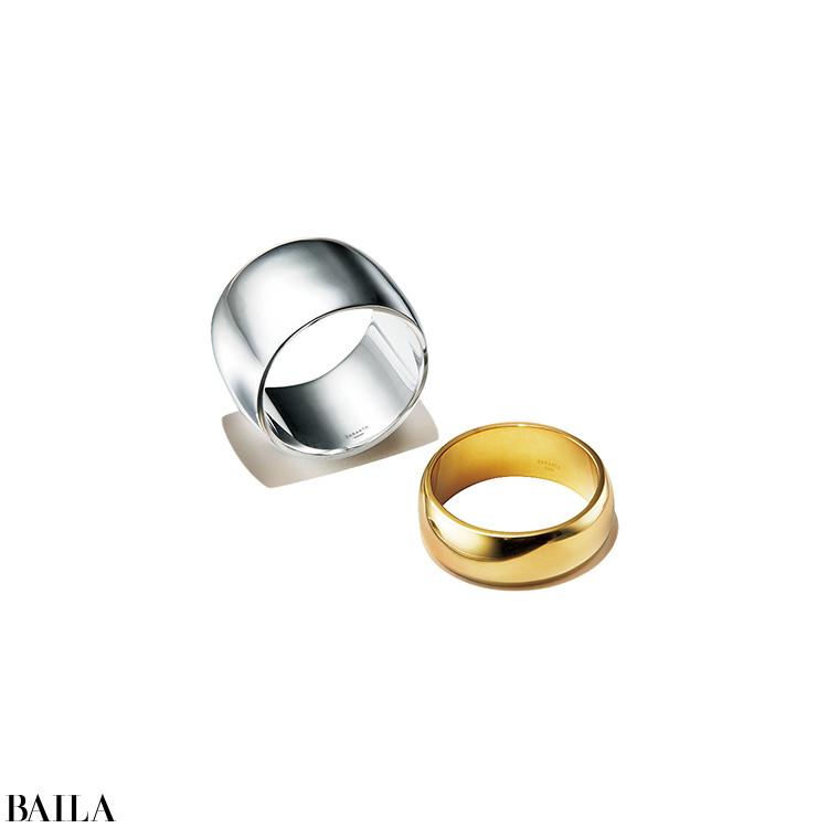 【SARARTH】  「ピュアシルバーが美しい新ブランド。クリーンなデザインのリングをGET」(スタイリストI)