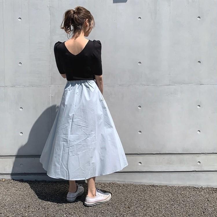 春夏にオススメ!!スカイブルーのスカート♡_3