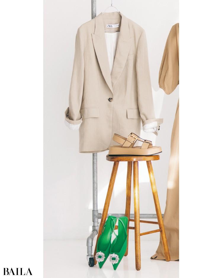 ザラのジャケット、靴