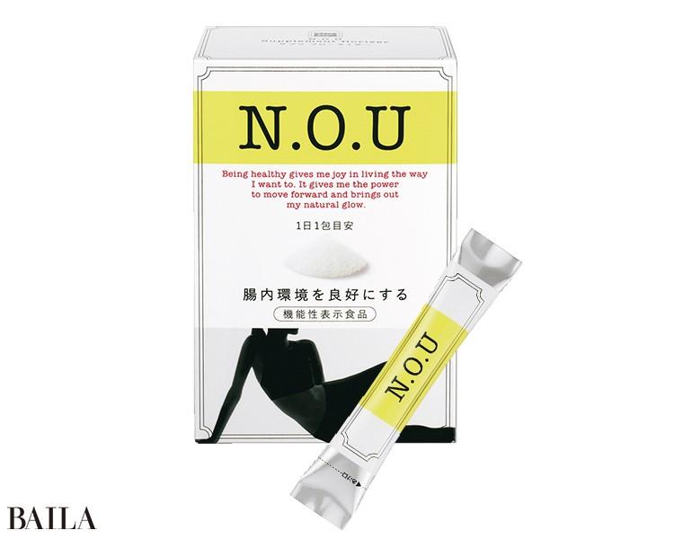 腸内環境が整うビフィズス菌BB536を配 合。N.O.U サプリ フローライザー 1.5g ×30包 ¥4000(編集部調べ)/資生堂