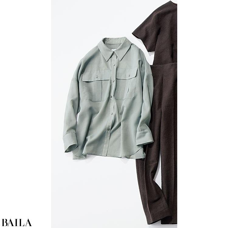 日差しが強い平日は、透けシャツを使ったキレイめコーデ【2020/5/13のコーデ】_2_2