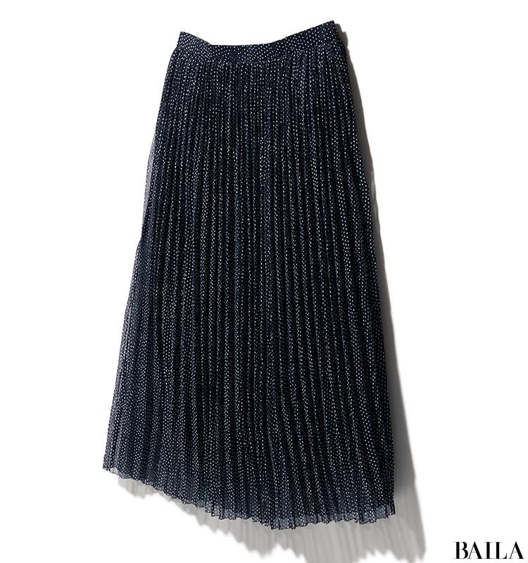 インターリブのドットプリーツスカート