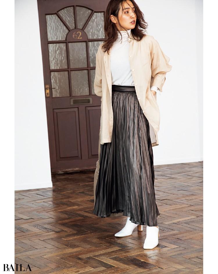 フレイ アイディーのサテンスカート