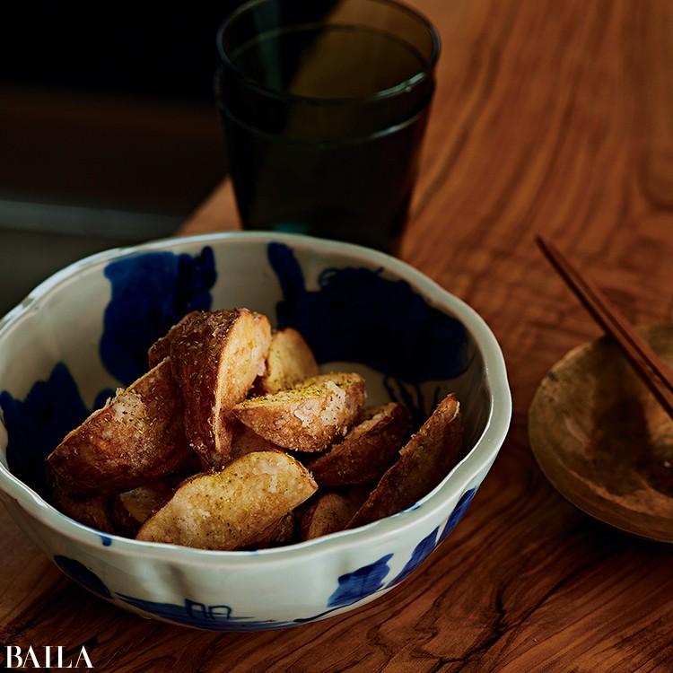 山椒風味の揚げ焼きポテト