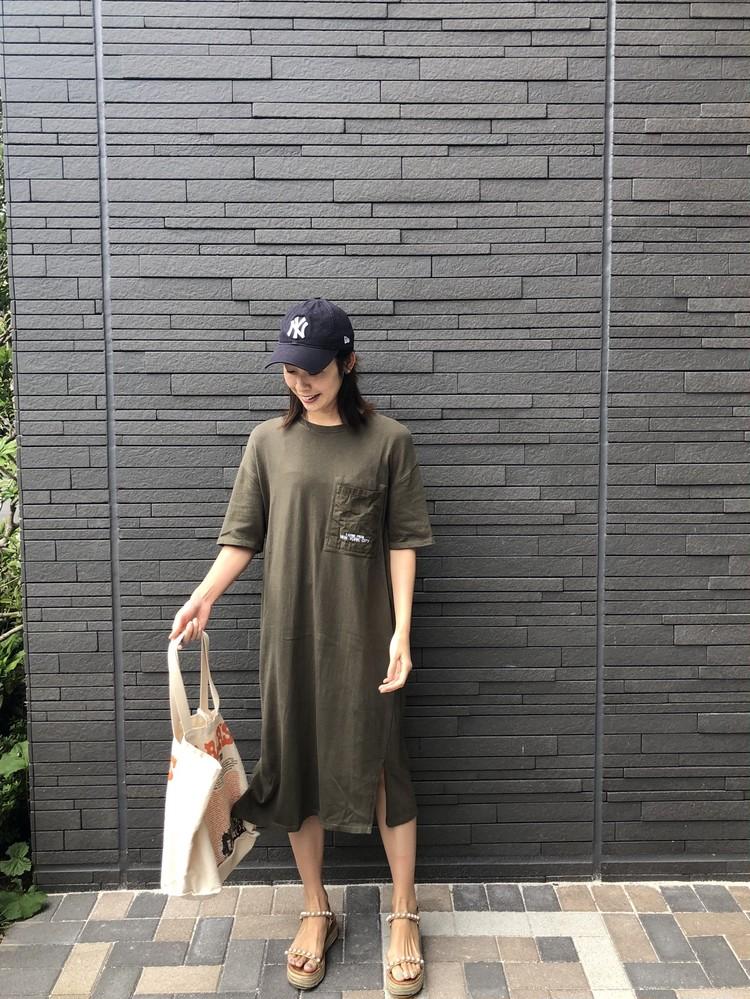 《ZARA online sale》でお得にget♡おうち時間のTシャツワンピ_4