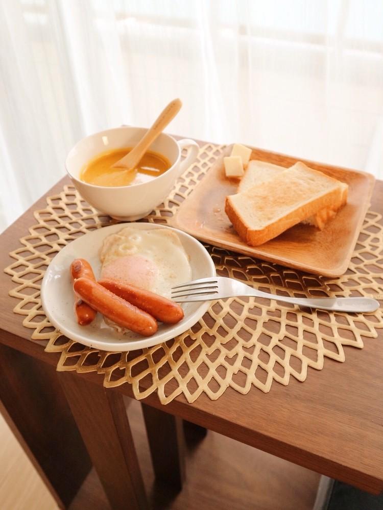 食育レシピ >> 美肌づくりに豆乳かぼちゃポタージュを。_1