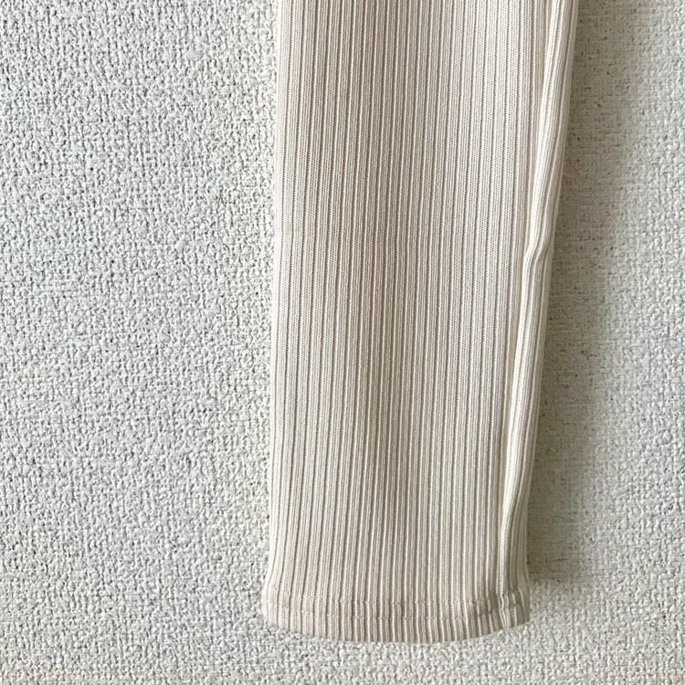 ¥590リブレギンスでお試し【ジーユー(GU)】で2019年夏大人レギンスコーデ_3