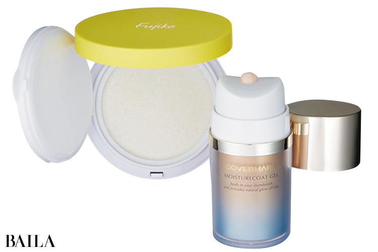 乾燥を防ぐ水ベースのお粉や皮脂吸収アイテム