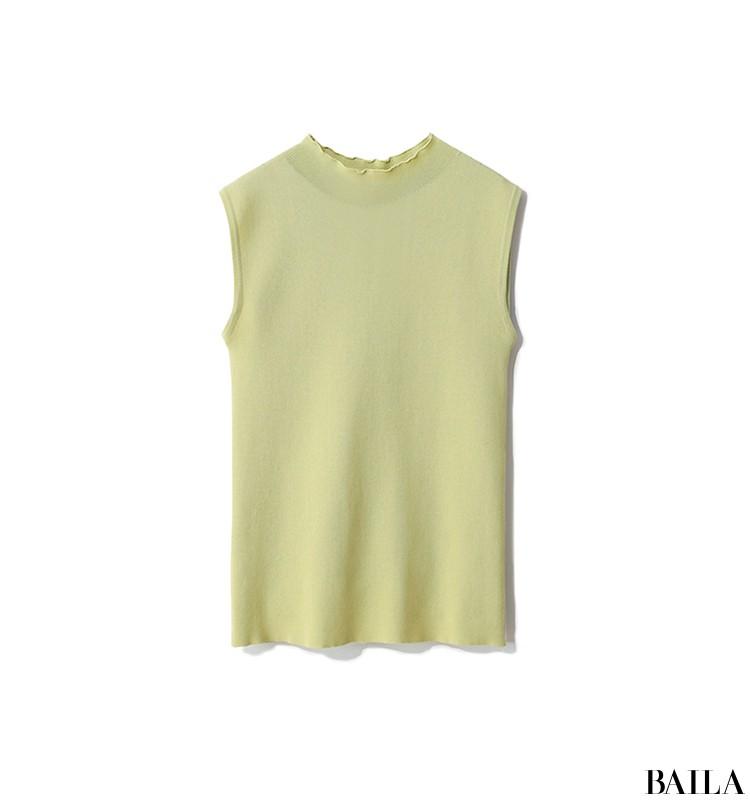 両親に彼を会わせる日は、旬カラーのきれいめスカートスタイルをちょっぴりカジュアルに!【2019/9/8のコーデ】_2_1