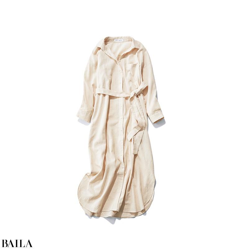 買い物する休日は、すっきりデニムスタイルにシャツワンピをはおって【2020/3/22のコーデ】_2_1