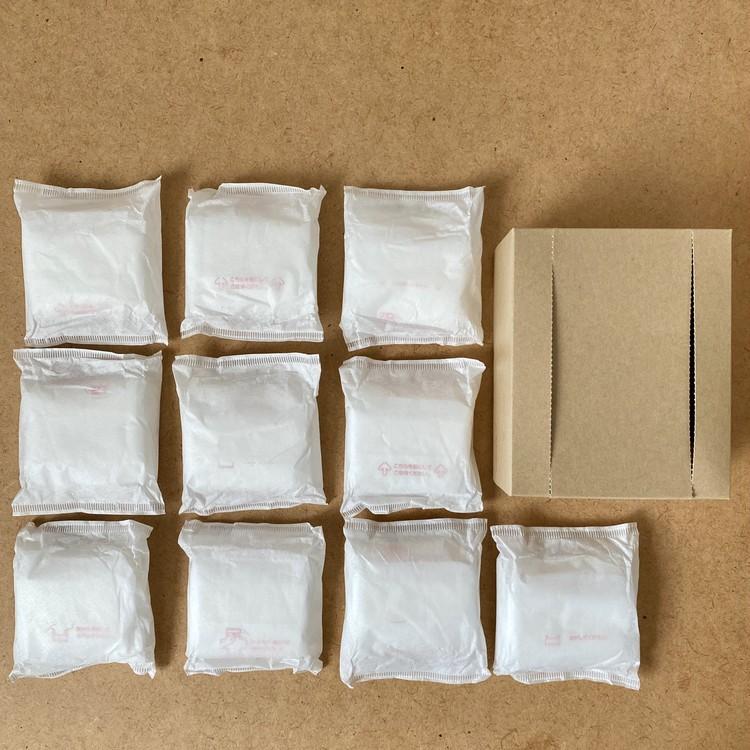【無印良品の生理用品】「生理ナプキン」羽つき&羽あり2種がシンプルパッケージで新登場、10個入り