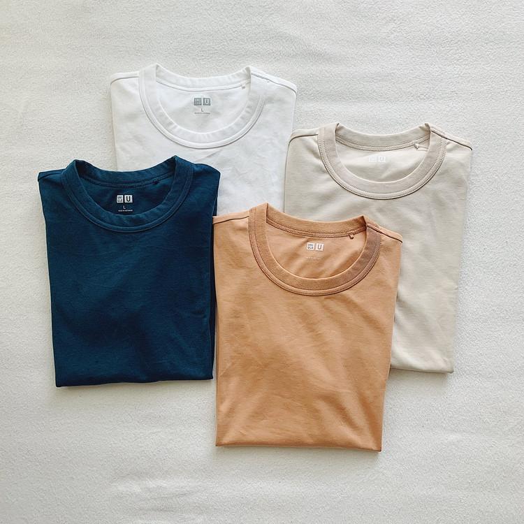 今なら790円?! UNIQLO クルーネックT(長袖)2種比較! 白を買うならどっち?_2