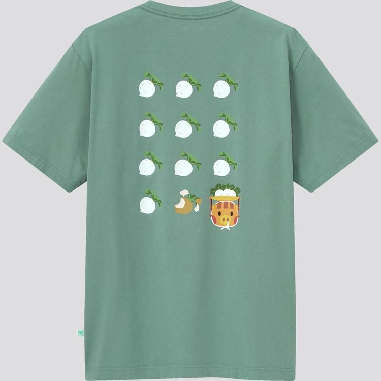 あつまれ どうぶつの森 UT グラフィックTシャツ(半袖・レギュラーフィット) グリーン裏