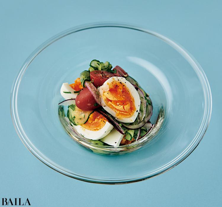 卵ハーブ サラダ