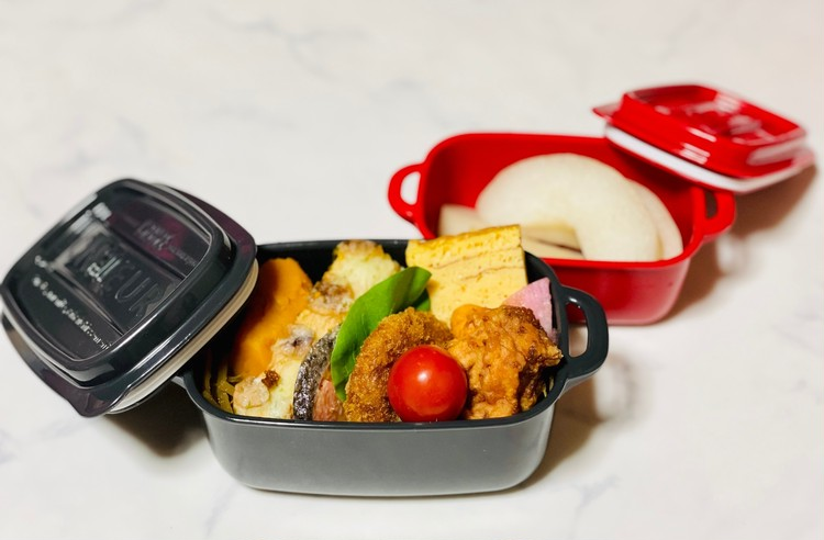 【ボヌールシリーズ1】ランチスクエアL&LLにお弁当を入れた写真