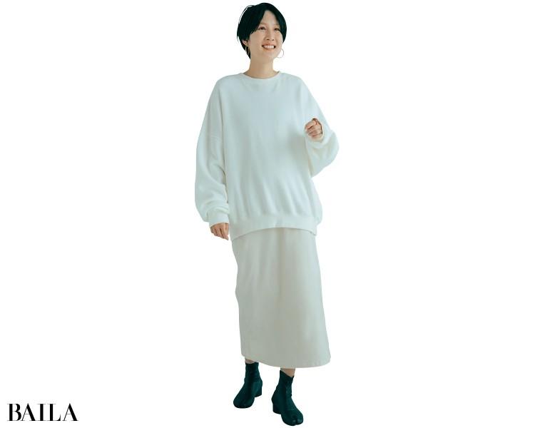 スタイリストの高橋美帆さんはサイズ2を選択