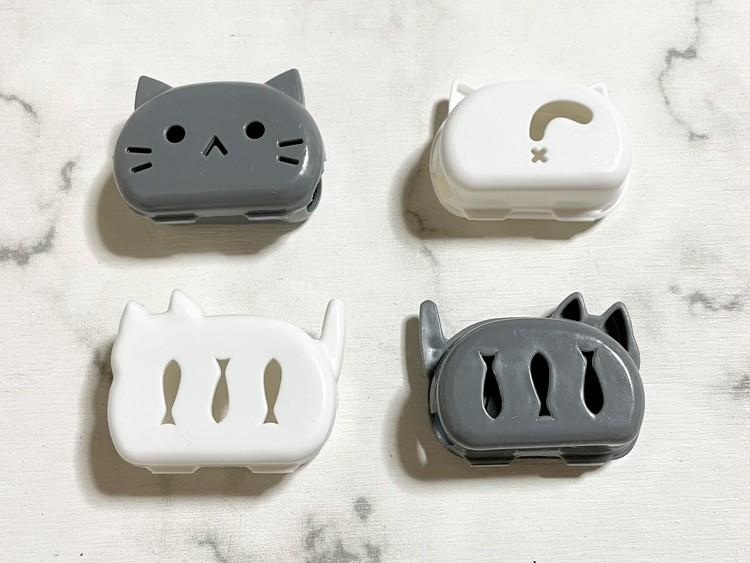 【セリアの猫グッズ3】歯ブラシキャップの表裏