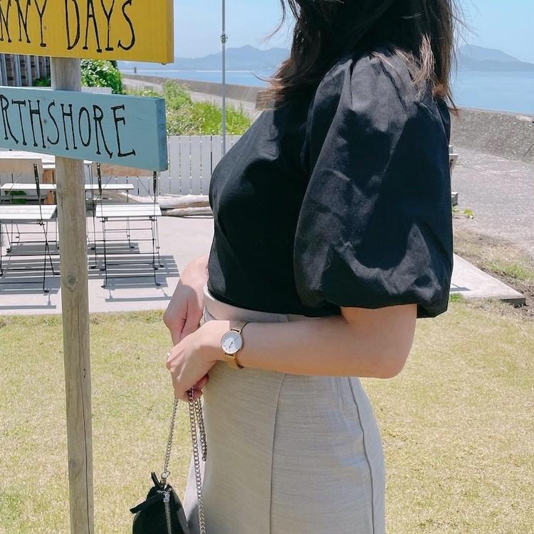 「袖コンTシャツ」で、パッと華やかに今っぽコーデ♡_3