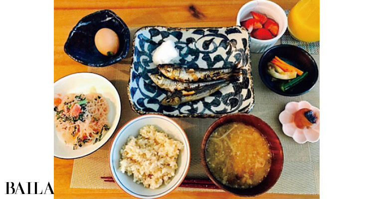 朝ごはんは和食が中心