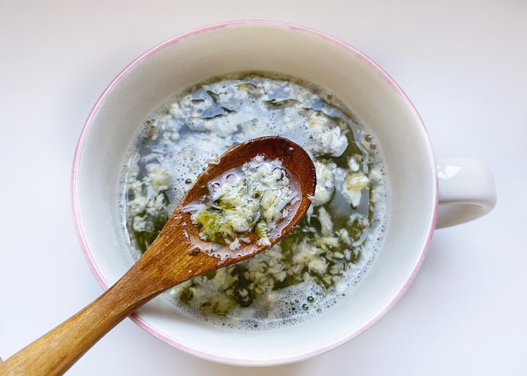 小さめごはん しらすと海苔の卵雑炊(アップ)