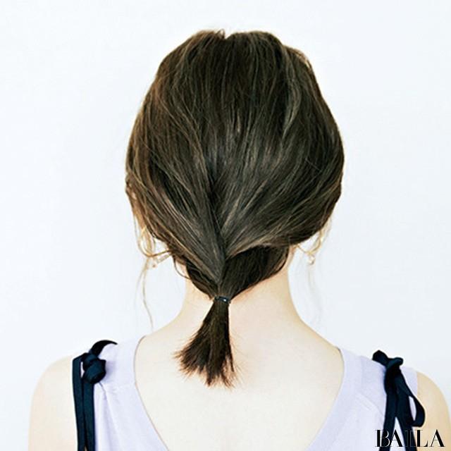 """ハットの日はリラックス感あるまとめ髪に【""""いいね!""""を呼び込むヘアアレンジ④】_2_2"""
