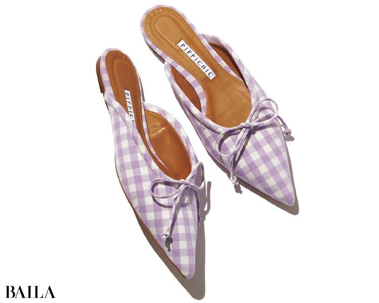 ポインテッドで辛さを加えた大人のためのガーリーなピッピシックの靴
