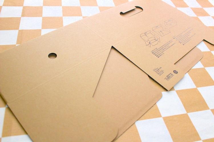 無印良品ダンボールファイルボックスは平たく畳める