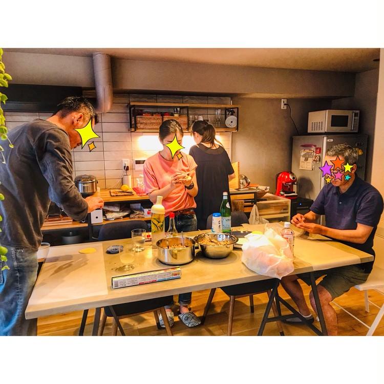 雨の日は餃子パーティ♡ニトリの爽やかエプロンでお料理_1