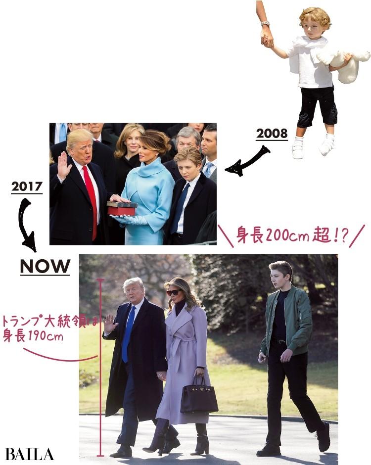 【画像】トランプ大統領の息子バロンの成長ぶりが半端じゃない!_4