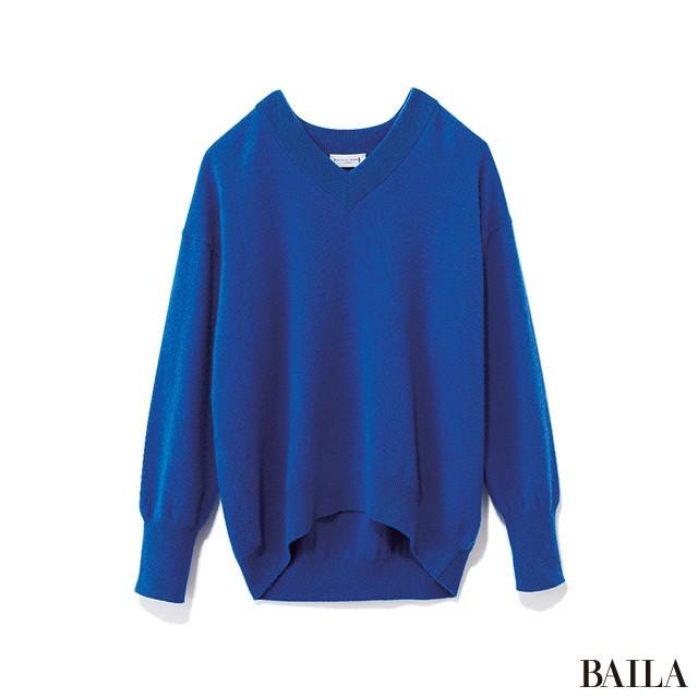 ホワイトコートが見違える! ブルー×赤みレッドで、新鮮冬コーデ♡_2_1