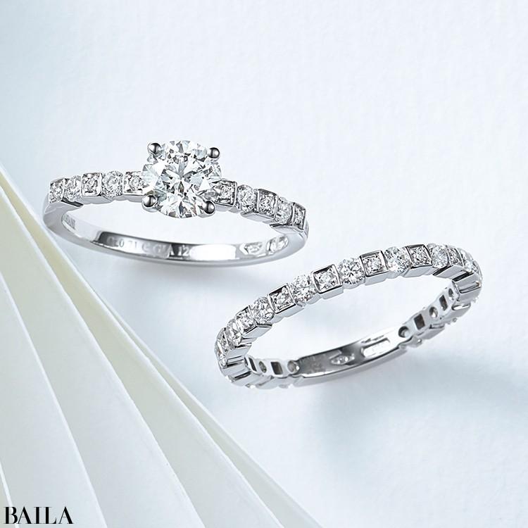 大小のブリリアントカットダイヤモンド