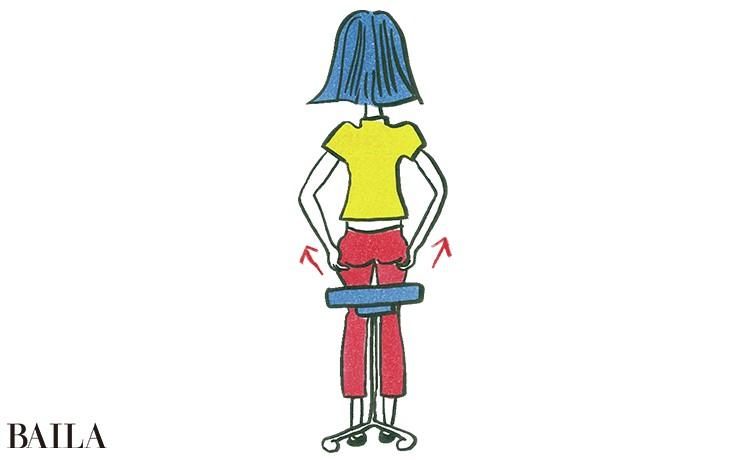 5.椅子や便座に座るたびにお尻を持ち上げる