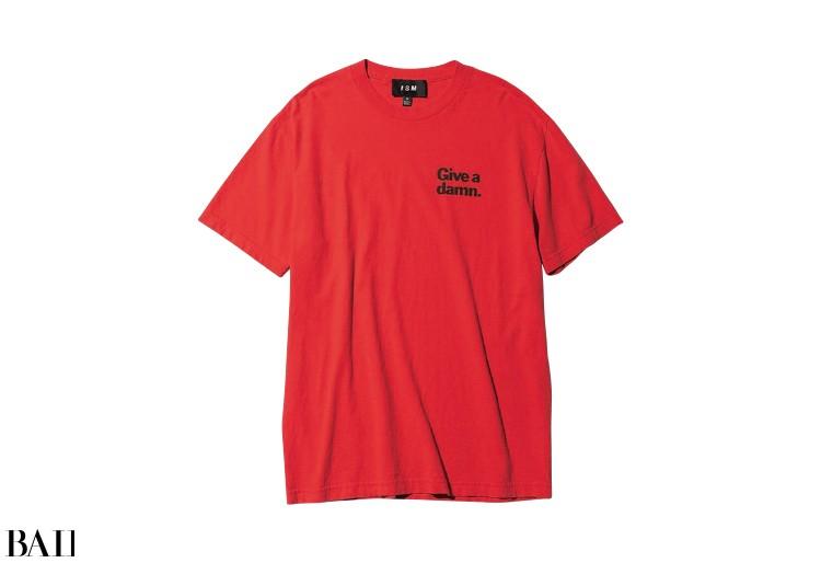 Tシャツ(赤)¥12000/ウィムガゼットルミネ新宿店(イズム)