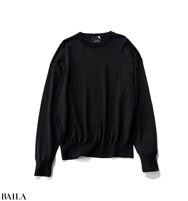 上司とミーティングする日は、ニットの下にはシャツを仕込んだ春先取りスタイル【2020/3/4のコーデ】_2_4